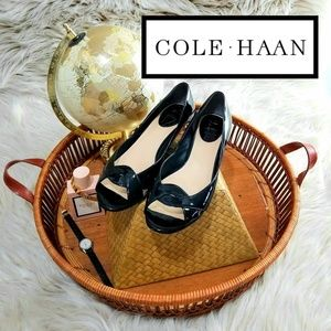 🤩GORGEOUS Cole Haan wedges patent and snakeskin